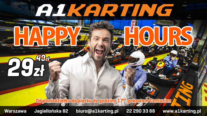 Happy Hours promocja w A1Karting