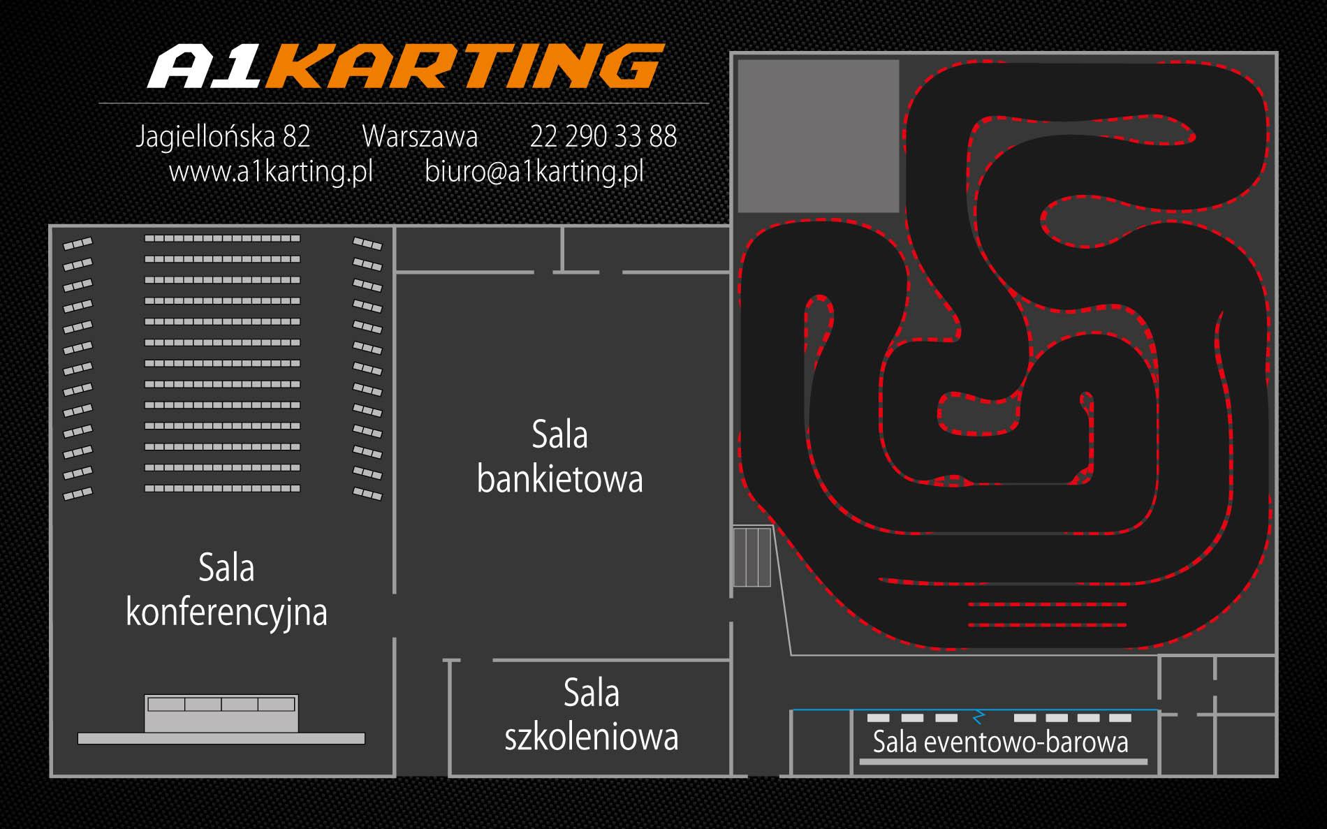 Plan obiektu A1Karting